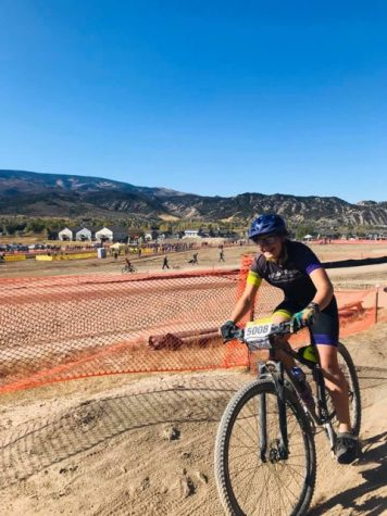 Salida Racing member, Seda Condell, rides her bike at a mountain bike race last season. She among others, love riding the Soltice trail on Methodist which is being threatened by the gravel mine expansion.