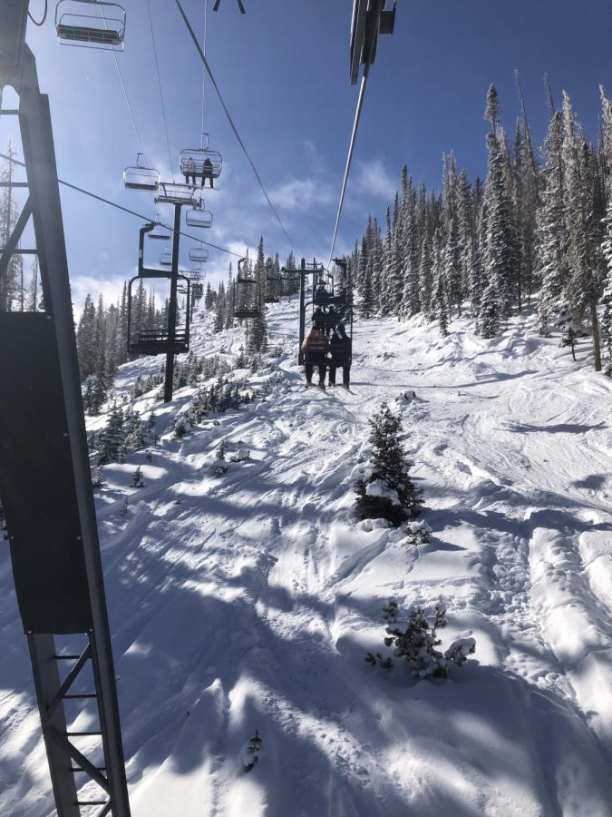 Pictured above is a view from Monarch Mountain's Garfield lift of both the Garfield and Pioneer lifts. This strange year has caused Monarch to make many changes to how they run things up on the mountain.