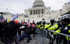 Trump supporters clash with police outside the United State Capitol. The riot occurred after a DC rally held by President Trump.