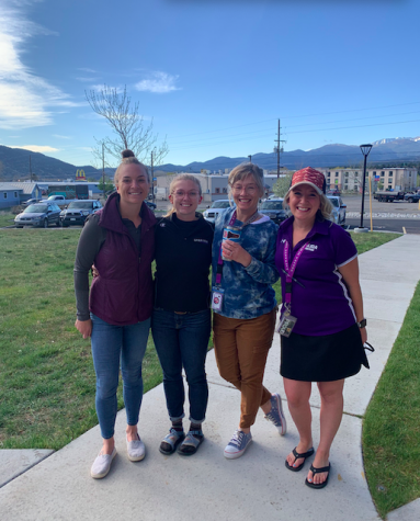 From left to right, Freshmen Academy Teachers, Sarah Evans, Abigail Cooksey, Britt Searles, and Lara Fischlein will be the four core teachers for next year's debut of the Freshmen Academy.